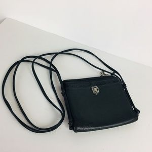 Brighton Cross Body Bag  Black Pebbled Leather